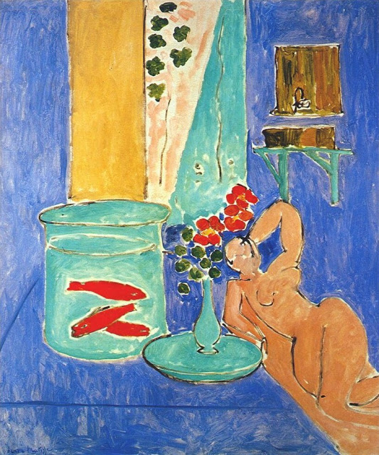 Image result for Matisse gold fish and woman